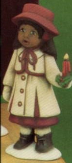 Clay Magic 1274 small AfAm girl caroler