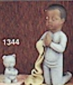 Clay Magic 1344 boy praying with teddy