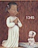 Clay Magic 1345 girl praying with dog