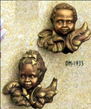 DM1935 cherub boy & girl ornament