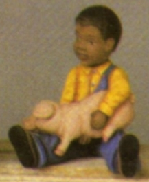 Scioto 2341 black boy with piggy