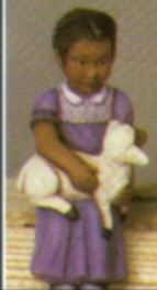 Scioto 2342 black girl with lamb