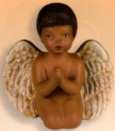 Scioto 2671 Black Praying Cherub