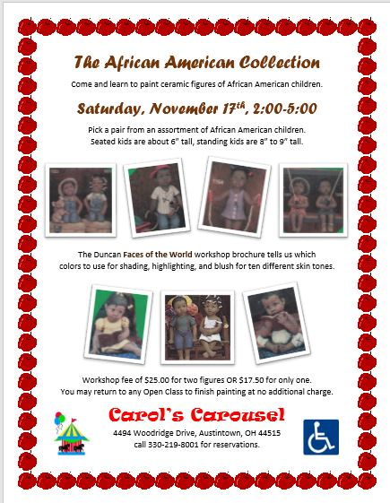 The African American Collection WORKSHOP POSTER