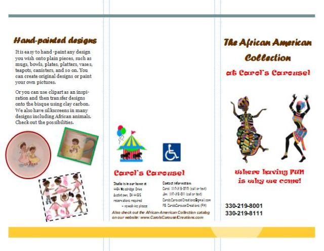 The African-American Collection brochure pg 1