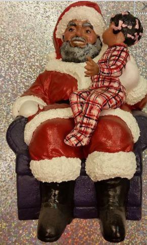 af-am santa with girl