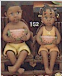 clay magic 1151 & 1152 boy & girl with watermelon