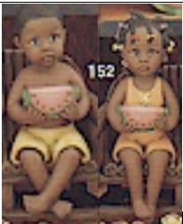 clay magic 1151 & 1152 boy & girl with watermelon