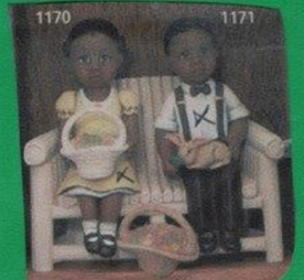 clay magic 1170 & 1172 african american girl & boy dressed up