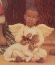 clay magic 1238 boy angel with lamb