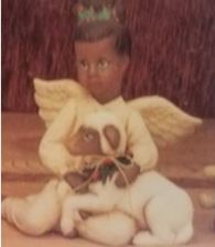 clay magic 1239 girl angel with lamb