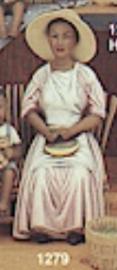 clay magic 1279 woman shelling peas