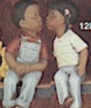 clay magic 1288 & 1289 kids kissing