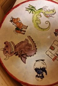 cutesy dragons plate