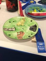 jens silkscreen dog plate 2018 show