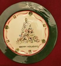 modern tree silkscreen plate cc