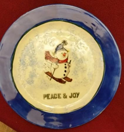 snowman silkscreen plate cc