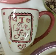 valentine mug rubber stamp