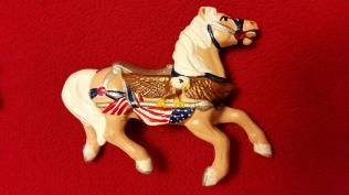 Alberta 1077 Patriotic Carousel Horse CC