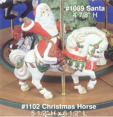Alberta 1089 Santa & 1102 Christmas Horse