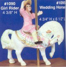 Alberta 1090 Girl Rider onwedding horse