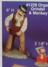 Alberta 1228 Organ Grinder & Monkey
