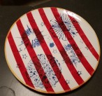 Americana stamped plate