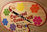 Carousel Creations Cupcake Board SIGN