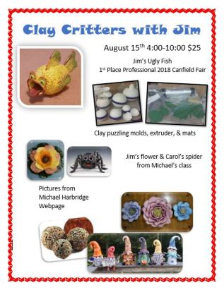 Clay Critters WS August 2019