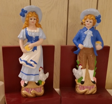 Colonial Boy & Girl Bookends (CC)