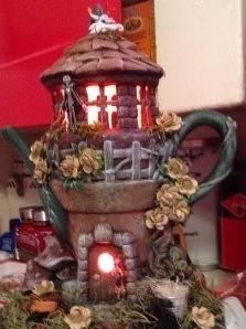 Clay Magic 3952 Enchanted Fairy House Teapot alternate design