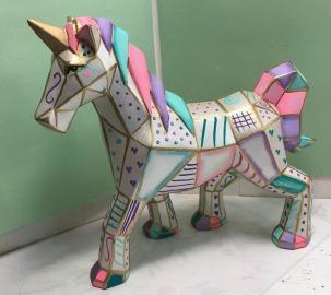 deco idea faceted unicorn 3