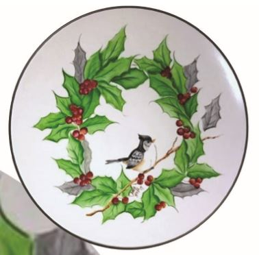 Holly Wreath with Small Tit Mouse