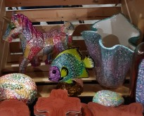 open house michael's faceted unicorn + fish etc