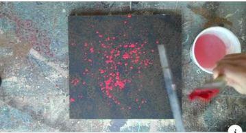 paint spattering u-tube
