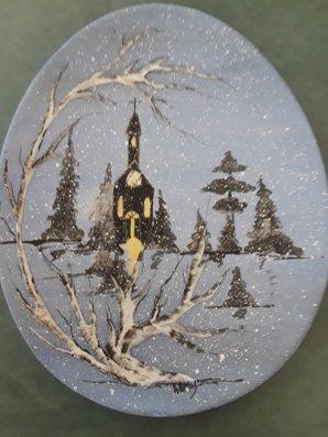 Duncan U Dec 2019 Classical Christmas Winter Church Scene