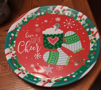 cookie plate cup of cheer