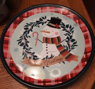 cookieplate snowman