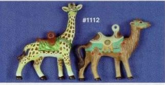 Alberta 1112 camel & giragge carousel ornamenrt