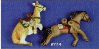 Alberta 1114 kangaroo & pony express carousel ornements