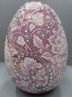 rose & jeweled mud egg