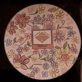Carol's napkin plate with logo