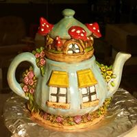 charming teapot fairy house CC(fashenhues)