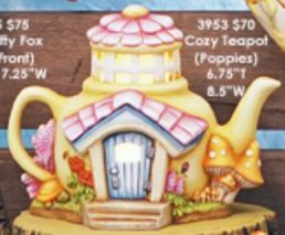 Clay Magic 3953 Cozy Teapot Fairy House