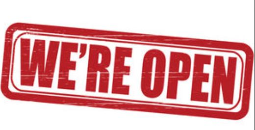 clipart WE'RE OPEN