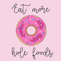 eat more hole foods clipart (donut)