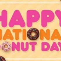 happy national donut day clipart