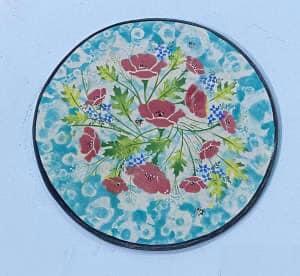 sponge it flower plate