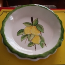lemons times two oon pie plate