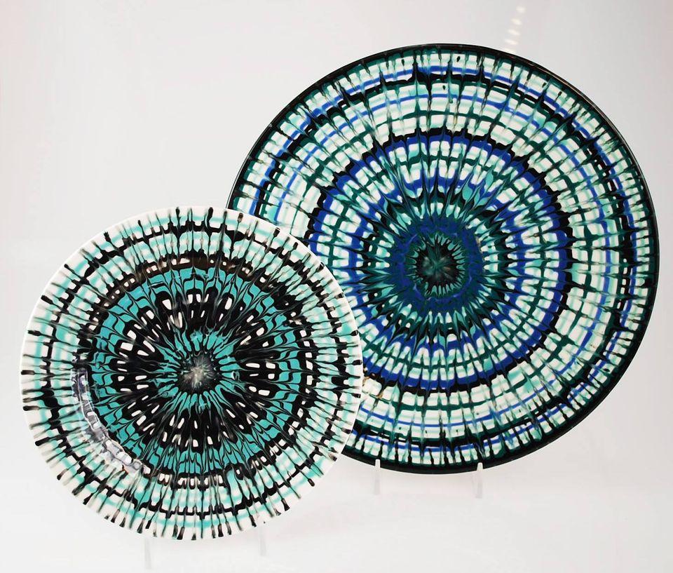 michael glaze raking 2 plates
